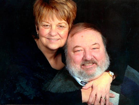 Gary and Barbara Hall in a family photo.