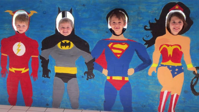 The Oelke siblings: Clay; Chase; Canton and Caitlin had fun deciding which superhero to be at the Campbellsport Public Library. The Library Staff is excited for the summer activities to begin. Visit campbellsportlibrary.org for details about programming.
