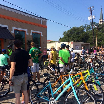 Join up for a slow ride through downtown Pensacola