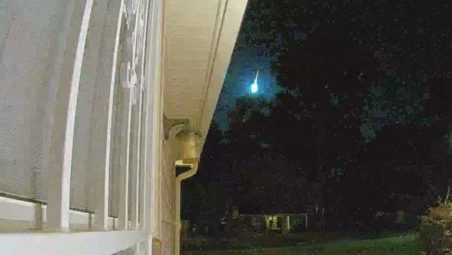 Fireball seen above Montgomery early Tuesday morning.