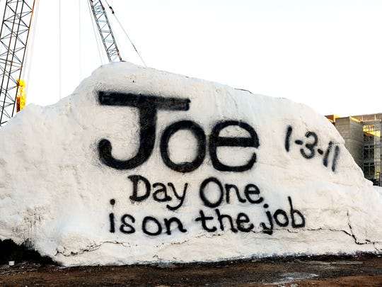 The Rock on the UT campus was painted on Jan. 3, 2011, to welcome UT President Joe DiPietro after he started the role.
