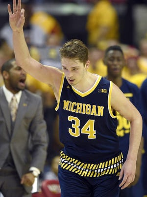Michigan forward Mark Donnal is averaging 11.2 points in Big Ten play this season.