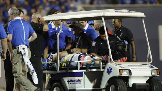 Gunner Kiel was carted off the field last Thursday