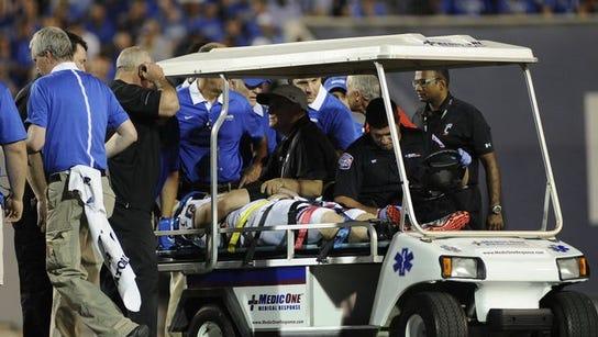 Gunner Kiel was carted off the field last Thursday
