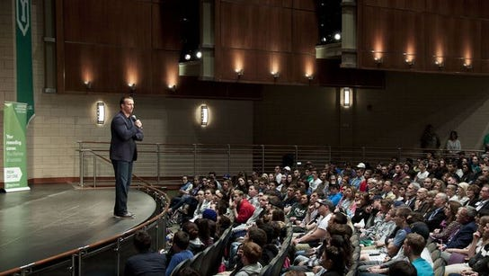 Chris Herren spoke last week at York College. His message