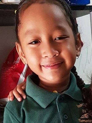 Reader Sepha Isimang submits photo of her daughter, Bethaleen. Isimang says Bethaleen got onto the wrong school bus on Thursday, Aug. 24, 2017 and was missing for a few hours. She was returned safely back to school and reunited with her parents.