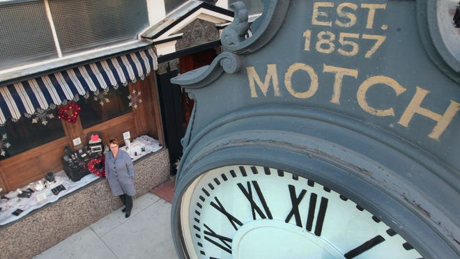 Shirley Alley, manager of Motch Jewelers said the business' location in the 600 block of Madison Avenue makes it difficult to attract foot traffic. The business, founded in 1857, is the oldest family-owned business in the city. The clock dates to 1871.