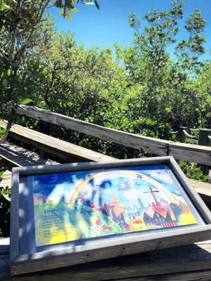 """Now through Aug.1, the Environmental Learning Center is asking the public for nature-themed work to be featured on platforms along its StoryWalk trail. The poems and stories will replace the current pages from the children's book, """"Where the Wild Things Are."""""""