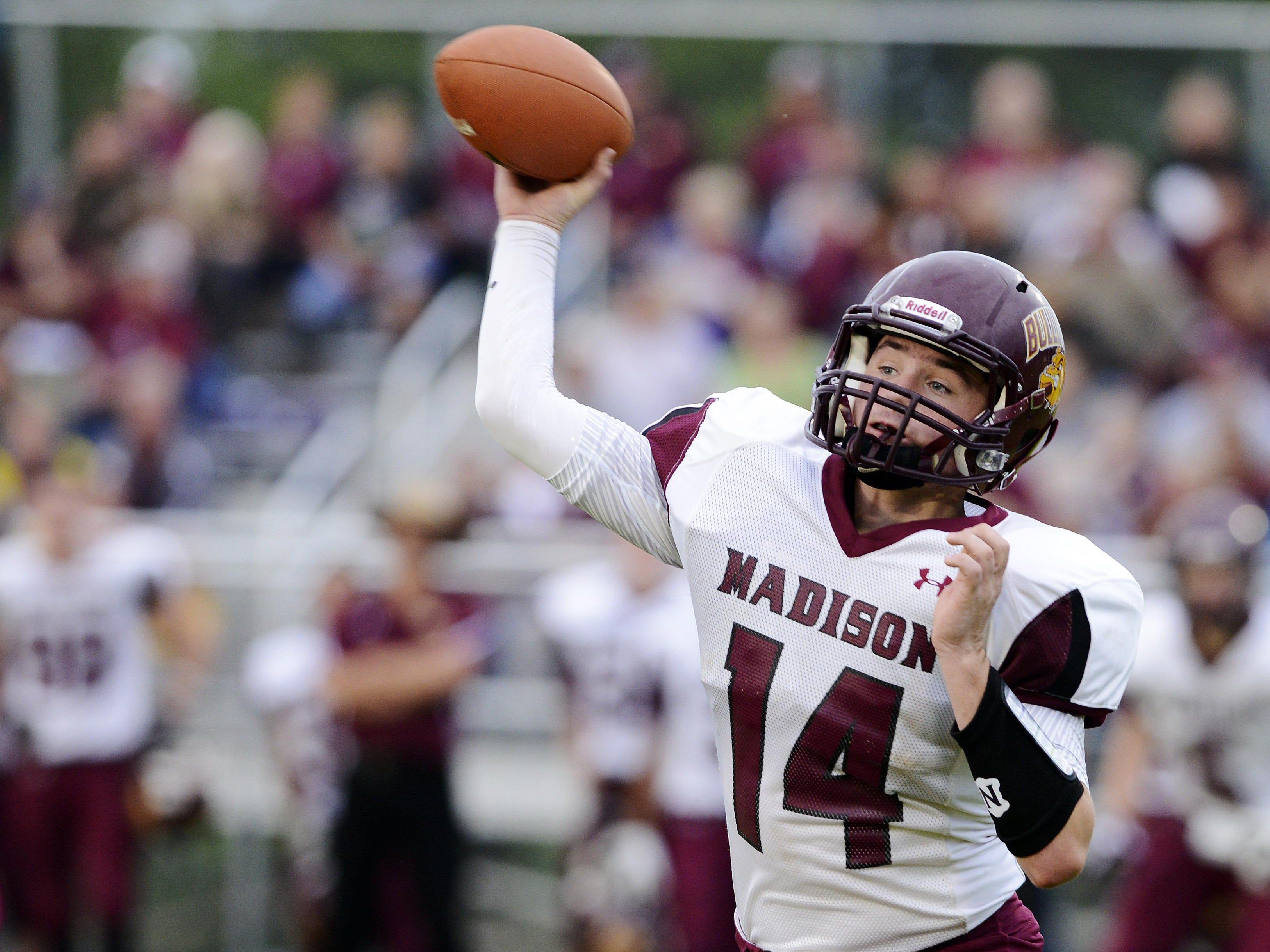Madison quarterback Mitch Hansen is a player to watch this season.