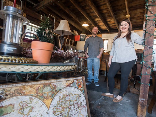 Shelby Kesner and Brian Dersa are opening a new up-cycled
