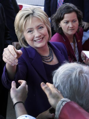 Democratic presidential candidate Hillary Clinton campaigns in Concord, N.H., on Nov. 9, 2015.