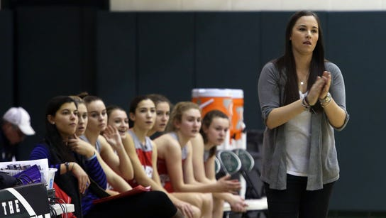Somers girls basketball head coach Kristi Dini was
