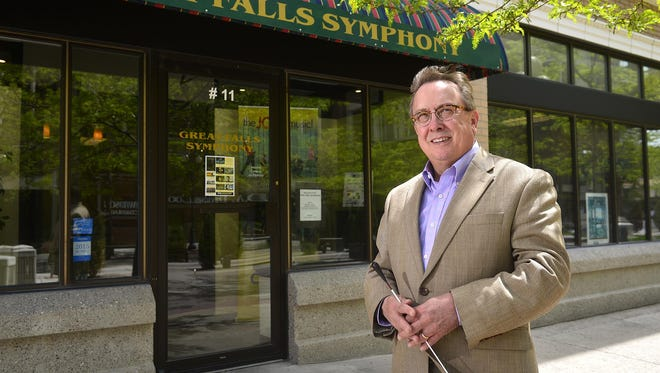Gordon Johnson, conductor of the Great Falls Symphony, helps to raise funds during what will be his final year with the Great Falls Symphony.