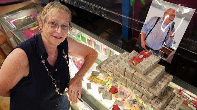 Anne DiSarcina, 79, discovered 16,000 tickets from her late husband, Anthony, who liked to play Skee-Ball at the Fun-O-Rama in York Beach in Maine. The prizes are being donated to St. Elizabeth's Child Development Center in Portland.