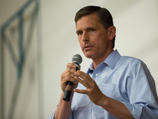 U.S. Sen. Martin Heinrich, D-N.M., speaks at a Las Cruces rally on Friday, June 22, 2018.