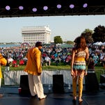 Members of the acapella group Streetcorner perform at the 2014 Rockin' the Rivers in Kiefer Park.