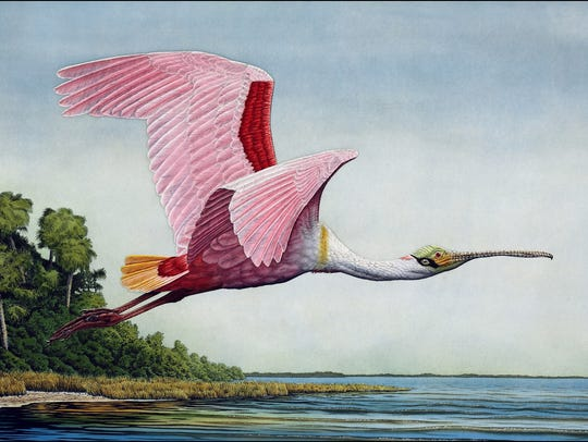A print by John Costin, one of the many artists appearing