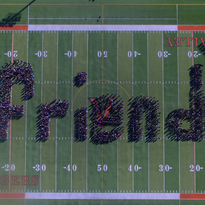 Why 1,400 students spelled out 'friend' on Valley's football field