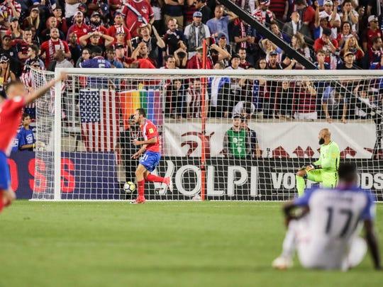 Marco Urena scored both of Costa Rica's goals in the