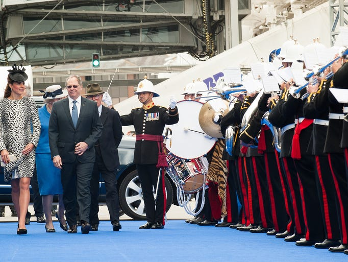 One of the most recent royals to christen a cruise