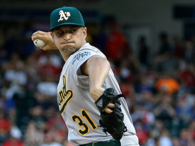 """Oakland Athletics starting pitcher Kendall Graveman"