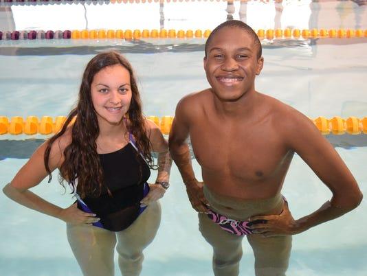 Brianna Serret is the All Cenla Swimming girls' MVP and Daniel Lewis is the All Cenla Swimming boys' MVP.