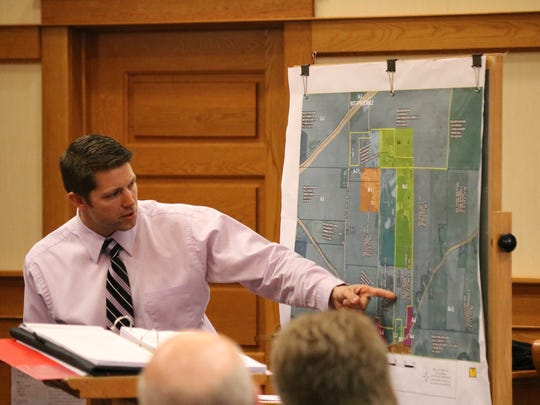 Ottawa County Engineer Ron Lajti discusses his involvement in reviewing zoning issues at the former Stoneco quarry in Benton Township, now owned by Rocky Ridge Development LLC, which is accused of dumping spent lime in areas zoned only for agricultural use.