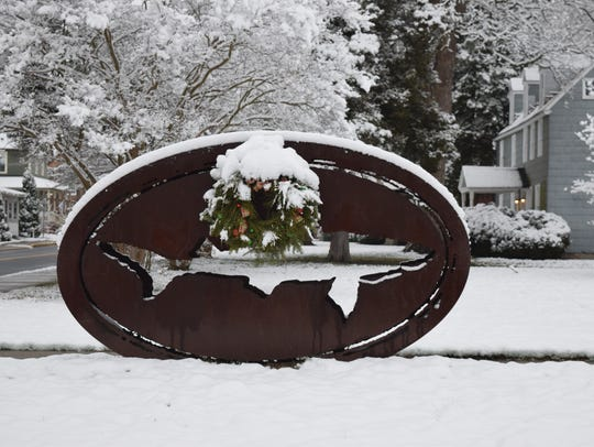 The Dogfish Head sign in Milton got an extra festive