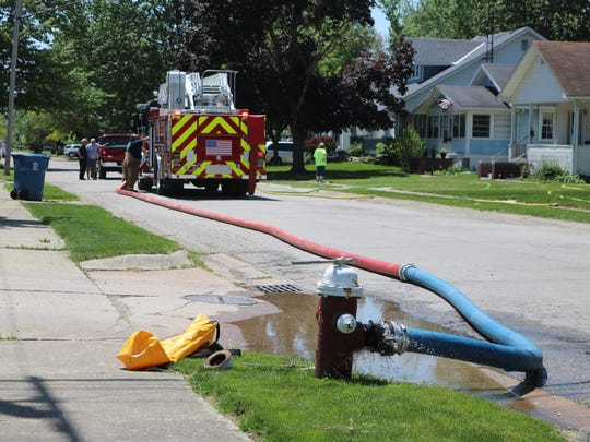 A garage fire at 618 Jackson Drive in Port Clinton on Friday is believed to have been caused by a lawn mower.