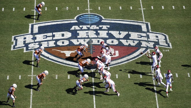A shot from last year's Texas-Oklahoma game at the Cotton Bowl. This year's game between the 22nd-ranked Longhorns and the unranked Sooners will be different. There is no State Fair of Texas this year because of the pandemic and both teams are coming off a loss, but this is still the Red River rivalry.