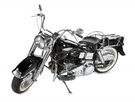 Marlon Brando's 1969 motorcycle, along with items from