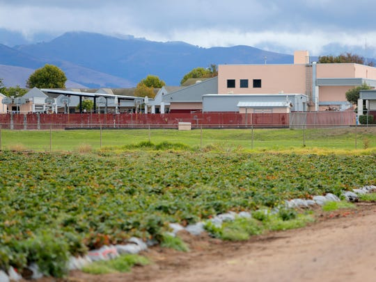 In this file photo, new state regulations restrict the use of pesticides near schools such as Gavilan View Middle School.
