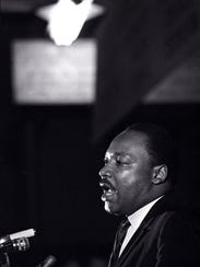 """Dr. Martin Luther King delivering his """"Mountaintop"""""""
