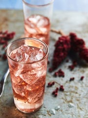 """This spritzer from """"The Wildcrafted Cocktail"""" has a tart flavor imparted by sumac soda."""