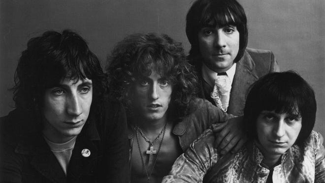 The Who in 1969, from left, guitarist Pete Townshend, singer Roger Daltrey, drummer Keith Moon (1947-1978), and bassist John Entwistle (1944 - 2002).