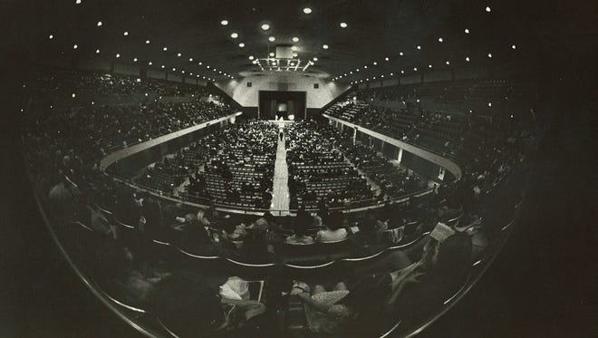 This interior photo of the Lansing Civic Center was taken in October 1972.