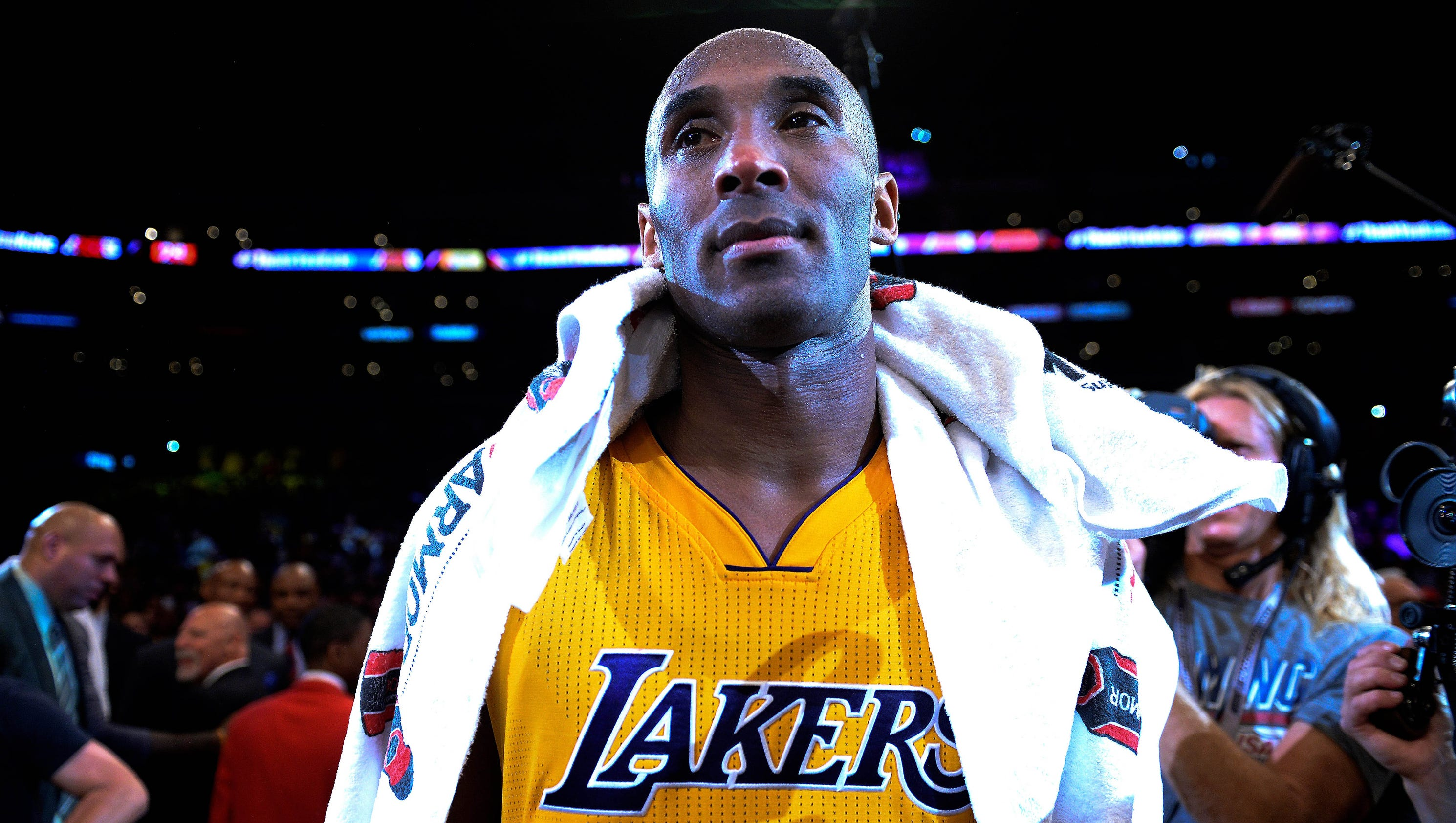 ... portland trail blazers usp nba orlando magic at los angeles lakers s bkn  lal orl usa ca. How Kobe Bryant Spent His Last Moments As A Laker After  Epic ... 37330c11f