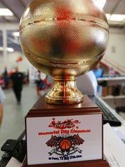 Coca Cola hoops trophy