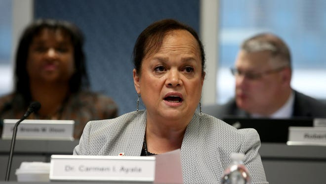 State Schools Superintendent Carmen Ayala.