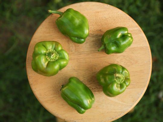 King Arthur green bell peppers from Green Door Gourmet,
