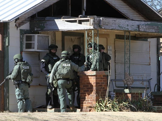 Police standoff rings in the new year