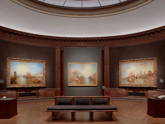 View of Turner's works in the Oval Room at the Frick Collection.