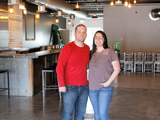 Owners of Brightside Aleworks Andrew and Molly Frana.