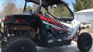 Between June 7 and 8, someone stole a black and white 2015 Arctic Cat Wildcat Sport Limited utility terrain vehicle (UTV) from a yard in the town of Mosinee.