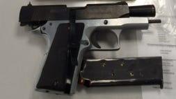 Gun found in the car of Ariel Paulino.
