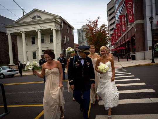 Valentyna and Alcibiades Torres returned to Rutgers for their October 2014 wedding because, simply, it's where they met, fell in love and made many friends.