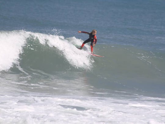 Bree Smith rides the waves, and she'll do so again