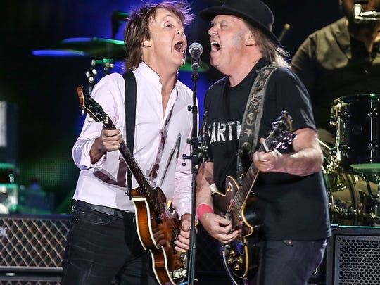 In October, Paul McCartney and Neil Young performed