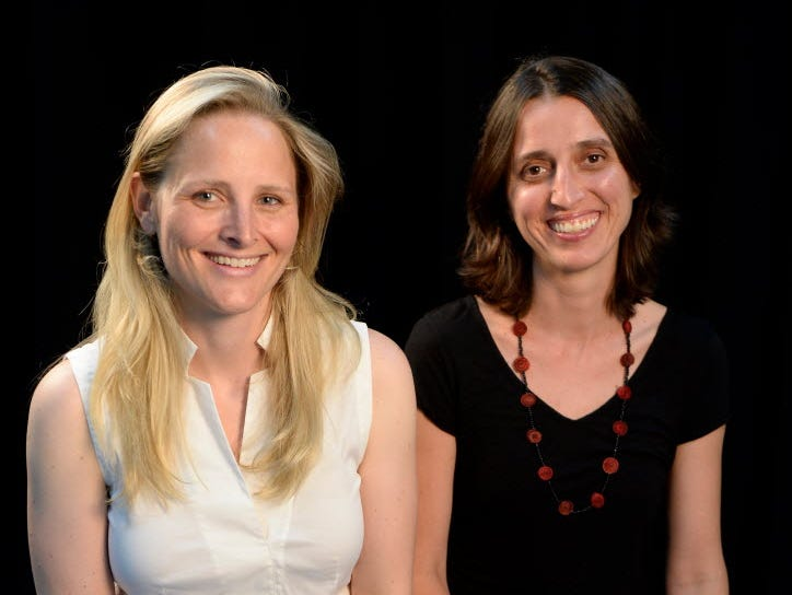 Katharine Zaleski (left) and Milena Berry are the founders of PowerToFly, a website dedicated to connecting women around the world with employers looking for virtual employees.