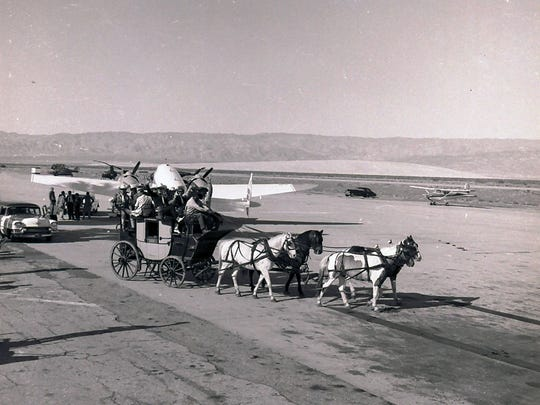 Tally Ho picking up Texas dignitaries from the airport to drop them off at El Mirador Hotel. (Photograph by Paul Pospesil)